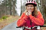 Portrait of mature woman on cycle ride Stock Photo - Premium Royalty-Free, Artist: Ascent Xmedia, Code: 614-06002095