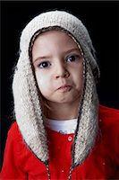 Little girl wearing a woollen hat Stock Photo - Premium Royalty-Freenull, Code: 614-06002178
