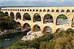 Pont du gard, nimes, provence, france Stock Photo - Premium Royalty-Free, Artist: Blend Images, Code: 614-06002488