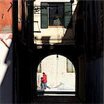 Passersby in Cannaregio district, Venice. Stock Photo - Premium Rights-Managed, Artist: Arcaid, Code: 845-06007944
