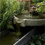 Water feature in Lincolnshire garden, UK. Stock Photo - Premium Rights-Managed, Artist: Arcaid, Code: 845-06007953