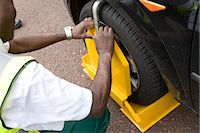 Car clamping, urban street detail, UK. Stock Photo - Premium Rights-Managednull, Code: 845-06007997