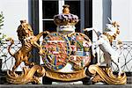Pantiles Royal Victoria Crest, Tunbridge Wells, Kent, UK. Stock Photo - Premium Rights-Managed, Artist: Arcaid, Code: 845-06008019