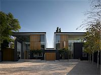Driveway and double height exterior of Pond and Park House, Dulwich, London, UK. Architects: Stephen Marshall Stock Photo - Premium Rights-Managednull, Code: 845-06008049