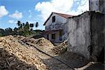 Sawdust shavings and building exterior, Grenada, West Indies. Stock Photo - Premium Rights-Managed, Artist: Arcaid, Code: 845-06008075