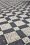 Black and white mosaic paving, Portugal. Stock Photo - Premium Rights-Managed, Artist: Arcaid, Code: 845-06008100