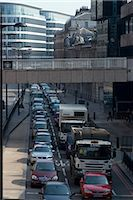 Traffic congestion on Upper Thames Street, London EC4 Stock Photo - Premium Rights-Managed, Artist: Arcaid, Code: 845-06008263