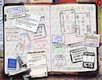 Passport with Stamps Stock Photo - Premium Royalty-Free, Artist: Andrew Kolb, Code: 600-06009105