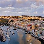 Overview of Corricella, Isle of Procida, Campania, Italy Stock Photo - Premium Rights-Managed, Artist: Siephoto, Code: 700-06009158
