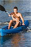 Man Kayaking Stock Photo - Premium Rights-Managed, Artist: Kevin Dodge, Code: 700-06009199
