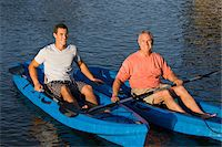 Father and Son in Kayaks Stock Photo - Premium Rights-Managednull, Code: 700-06009202