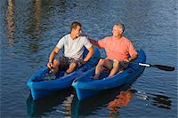 Father and Son in Kayaks Stock Photo - Premium Rights-Managednull, Code: 700-06009203