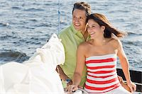 Couple on Sailboat Stock Photo - Premium Rights-Managednull, Code: 700-06009213