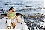 Couple on Boat Stock Photo - Premium Rights-Managed, Artist: Kevin Dodge, Code: 700-06009216