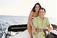 Couple on Boat Stock Photo - Premium Rights-Managednull, Code: 700-06009217