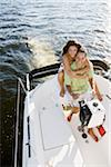 Couple on Boat Stock Photo - Premium Rights-Managed, Artist: Kevin Dodge, Code: 700-06009218