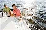 Two Men on Boat Stock Photo - Premium Rights-Managed, Artist: Kevin Dodge, Code: 700-06009223
