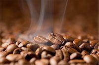 Hot Coffee Bean Stock Photo - Premium Royalty-Freenull, Code: 622-06009972