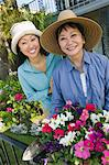 Mother and daughter in garden, (portrait) Stock Photo - Premium Royalty-Free, Artist: CulturaRM, Code: 693-06013667
