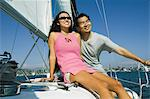 Couple sailing Stock Photo - Premium Royalty-Freenull, Code: 693-06013682