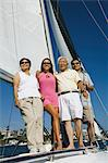 Family on sailboat, (portrait) Stock Photo - Premium Royalty-Freenull, Code: 693-06013683