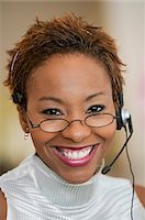 represented - Customer Service Representative With Headset, portrait Stock Photo - Premium Royalty-Freenull, Code: 693-06013809