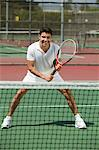 Tennis Player on court Ready to Play, front view Stock Photo - Premium Royalty-Free, Artist: Cultura RM, Code: 693-06013821