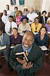 Preacher and Congregation, portrait, high angle view Stock Photo - Premium Royalty-Free, Artist: Blend Images, Code: 693-06013983
