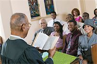Minister Giving Sermon to congregation in Church, back view Stock Photo - Premium Royalty-Freenull, Code: 693-06013994