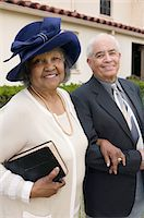 Senior Couple Going to Church on Sunday, portrait Stock Photo - Premium Royalty-Freenull, Code: 693-06013995
