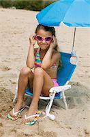 preteen thong - Little Girl on Beach Stock Photo - Premium Royalty-Freenull, Code: 693-06014056