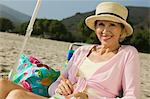 Woman at the Beach Stock Photo - Premium Royalty-Freenull, Code: 693-06014075