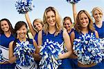 Group of Cheerleaders, (portrait) Stock Photo - Premium Royalty-Free, Artist: ableimages, Code: 693-06014243