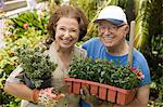 Senior couple gardening, (portrait) Stock Photo - Premium Royalty-Free, Artist: Garreau Designs, Code: 693-06014339