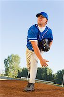 Baseball pitcher on mound Stock Photo - Premium Royalty-Freenull, Code: 693-06014390
