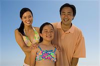 Parents with daughter (7-9), outdoors, (portrait) Stock Photo - Premium Royalty-Freenull, Code: 693-06014720