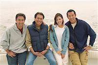 Family on boat, (portrait) Stock Photo - Premium Royalty-Freenull, Code: 693-06014904