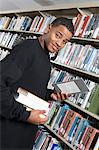 Male University student in library, portrait Stock Photo - Premium Royalty-Freenull, Code: 693-06015015