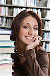 Female University student in library, portrait Stock Photo - Premium Royalty-Freenull, Code: 693-06015035