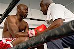 Boxer and Coach in Ring Stock Photo - Premium Royalty-Free, Artist: Robert Harding Images, Code: 693-06015158