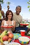 Young Couple at Barbecue, Portrait Stock Photo - Premium Royalty-Free, Artist: Blend Images, Code: 693-06015281