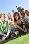 Four Young Friends on Golf Course, Portrait Stock Photo - Premium Royalty-Free, Artist: Aflo Sport, Code: 693-06015321