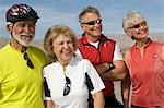 Two Senior couples in sportswear Stock Photo - Premium Royalty-Free, Artist: Blend Images, Code: 693-06015461