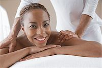 Woman Receiving a Massage, head and shoulders Stock Photo - Premium Royalty-Freenull, Code: 693-06016445