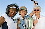 Tennis players with award cup Stock Photo - Premium Royalty-Free, Artist: Aflo Sport, Code: 693-06016659