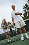 Man and woman on tennis court Stock Photo - Premium Royalty-Free, Artist: Aflo Sport, Code: 693-06016671