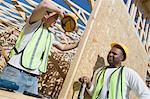 Two construction workers on site Stock Photo - Premium Royalty-Free, Artist: AWL Images, Code: 693-06016743