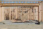 Wooden house construction Stock Photo - Premium Royalty-Free, Artist: Blend Images, Code: 693-06016757