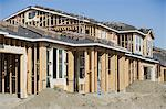 Wooden house construction Stock Photo - Premium Royalty-Free, Artist: AWL Images, Code: 693-06016769