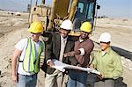 Surveyor and construction workers on site Stock Photo - Premium Royalty-Free, Artist: CulturaRM, Code: 693-06016802